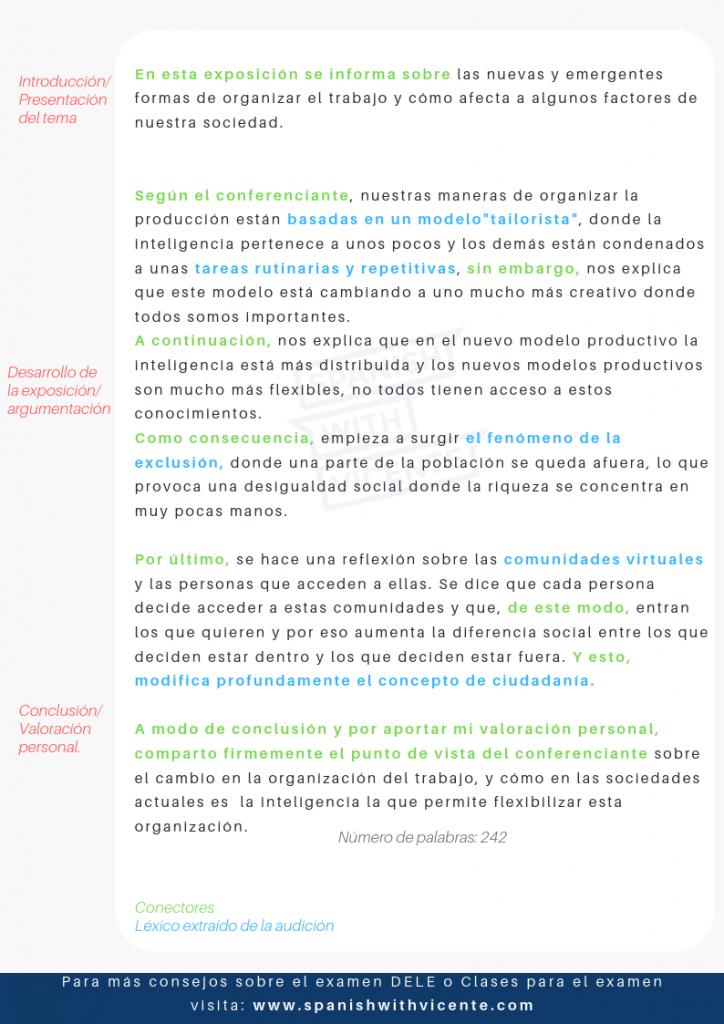 Ejemplo - Tarea 1 - Prueba 3 - Expresión Escrita - DELE C1