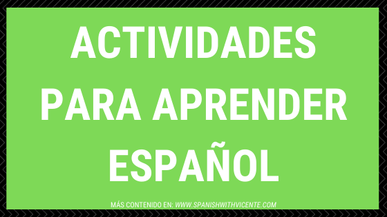 Actividades Para aprender español