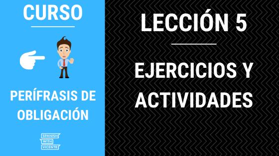 actividades perifrasis de obligacion