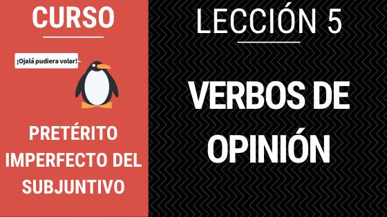 verbos de opinion imperfecto subjuntivo