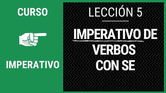 Lección 5 imperativo de verbos con SE con actividades