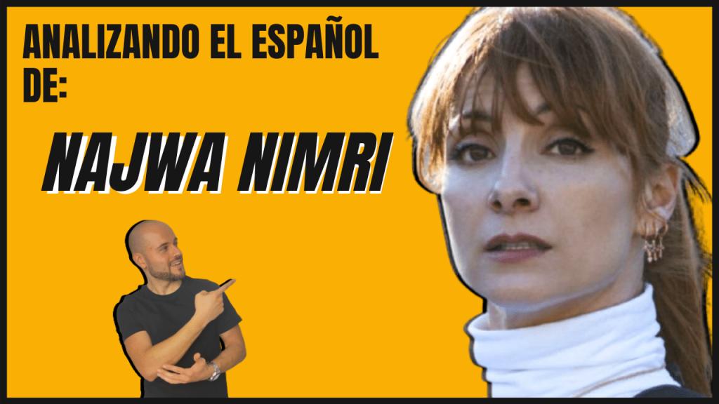 Analizando el español de los famosos Najwa Nimri la casa de papel y Vis a Vis aprender español actividades con vídeo interactivo aprender español