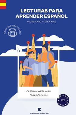 Portada libro Crema catalana Basado en Barcelona Spanish with Vicente Nivel B2